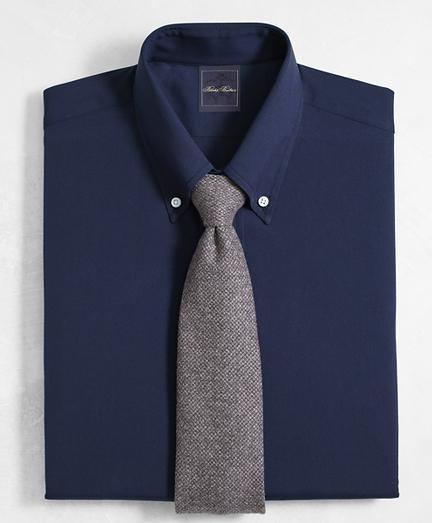 Golden Fleece® Milano Slim-Fit Dress Shirt, Button-Down Collar Navy