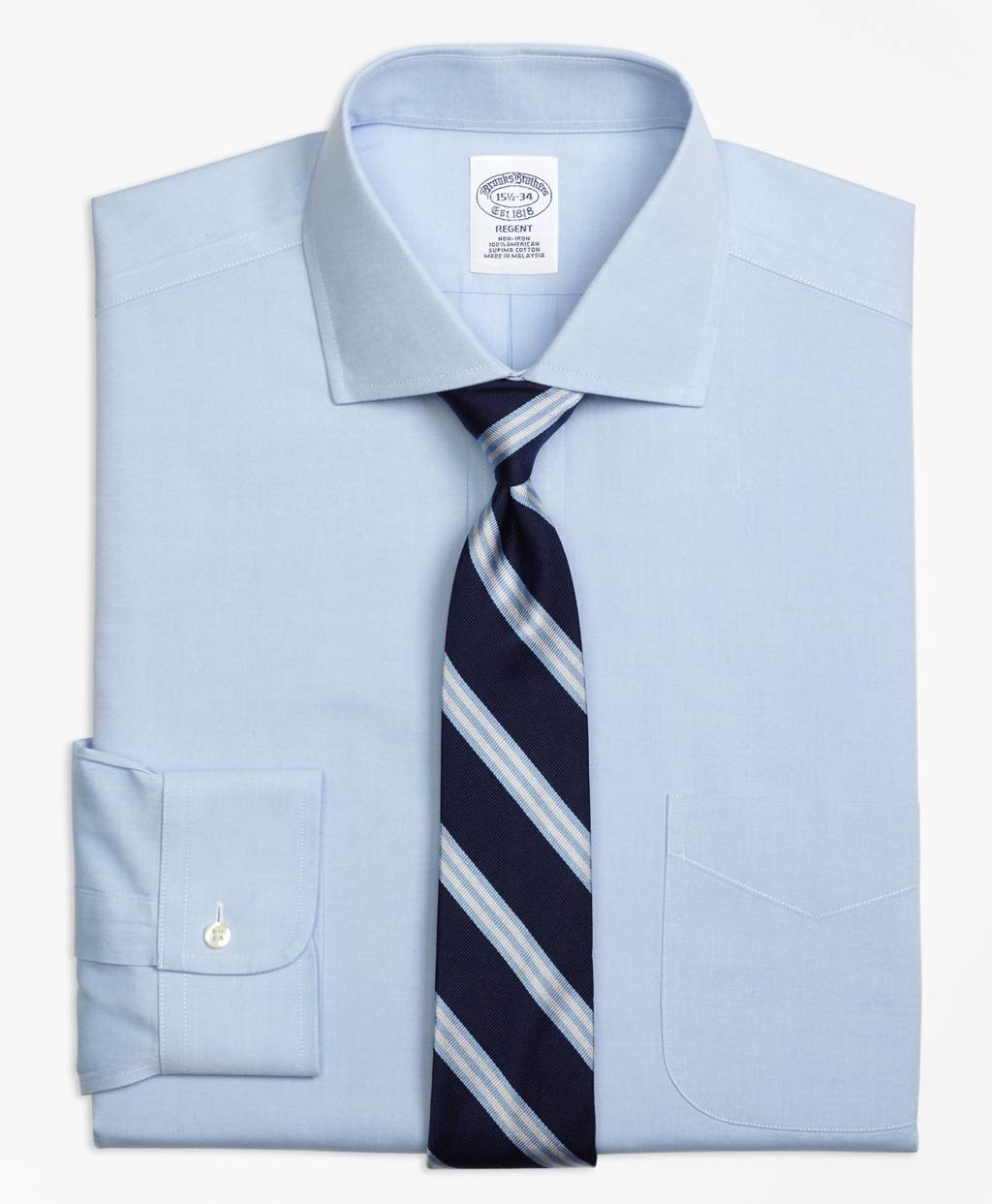 Non-Iron Regent Fit Spread Collar Dress Shirt - Brooks Brothers