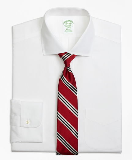 Milano Slim-Fit Dress Shirt, Non-Iron Spread Collar