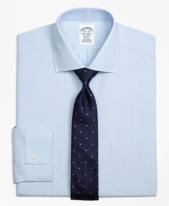 Regent Fitted Dress Shirt, Non-Iron Spread Collar Light Blue