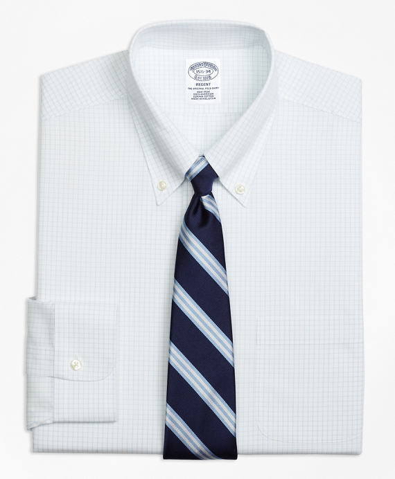 Non-Iron Regent Fit Graph Check Dress Shirt