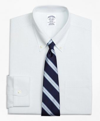 Non-Iron Regent Fit Graph Check Dress Shirt