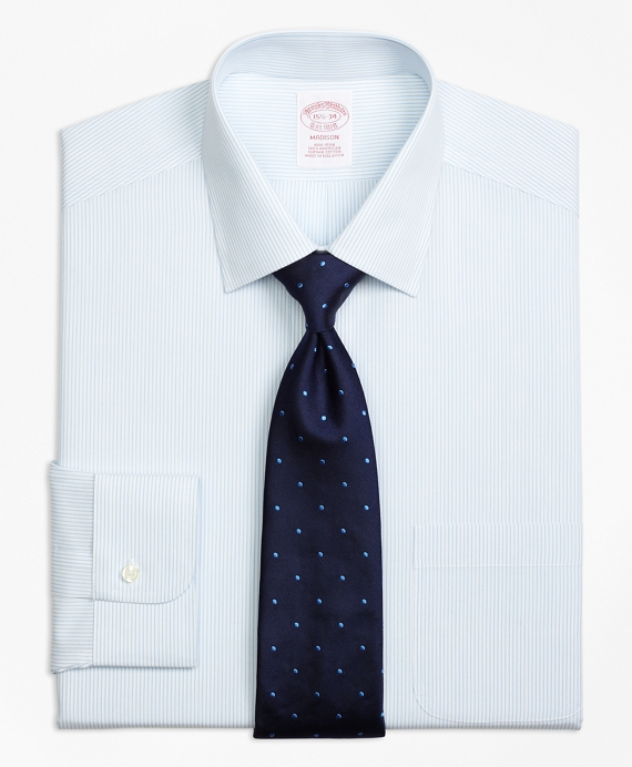 Madison Classic-Fit Dress Shirt, Non-Iron Mini Pinstripe