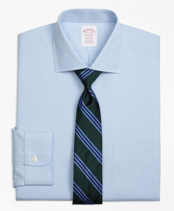 Madison Classic-Fit Dress Shirt, Non-Iron Houndstooth