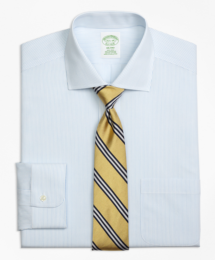 Milano Slim-Fit Dress Shirt, Non-Iron Mini Pinstripe