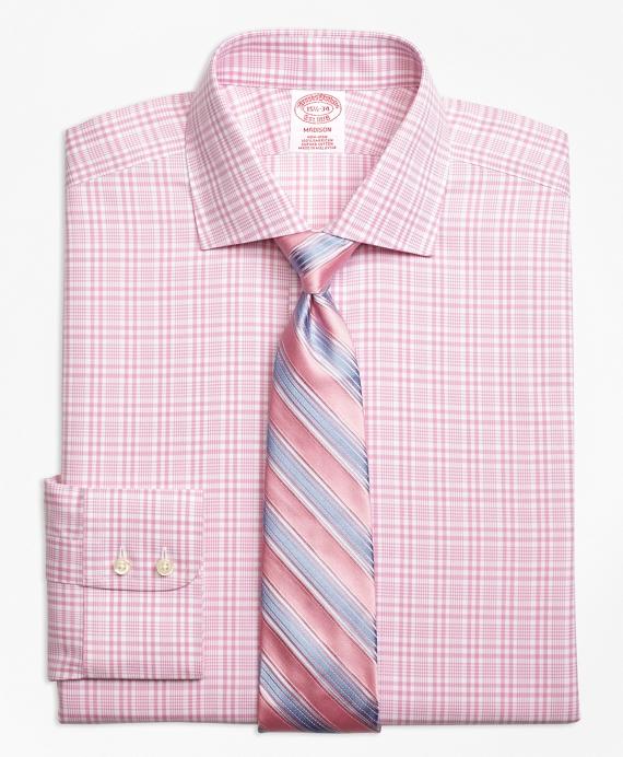 Non-Iron Madison Fit Glen Plaid Dress Shirt