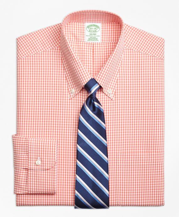 Non-Iron Milano Fit Dobby Gingham Dress Shirt