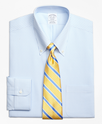 Non-Iron Regent Fit Dobby Gingham Dress Shirt