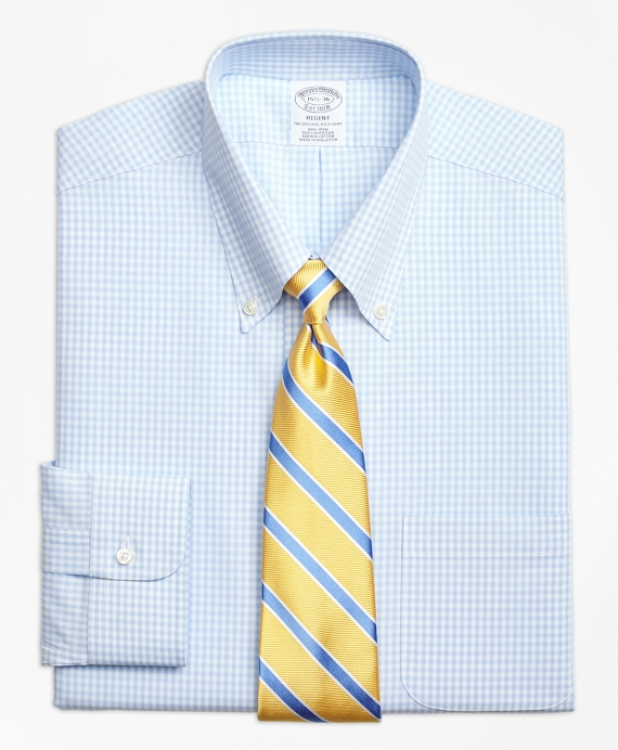 Regent Fitted Dress Shirt, Non-Iron Dobby Gingham