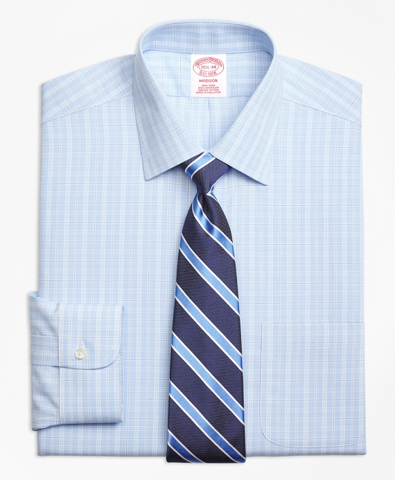 Non-Iron Madison Fit Overcheck Dress Shirt