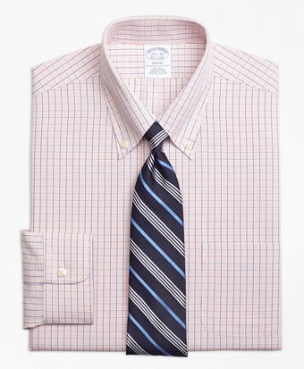 Non-Iron Regent Fit Micro-Tattersall Dress Shirt