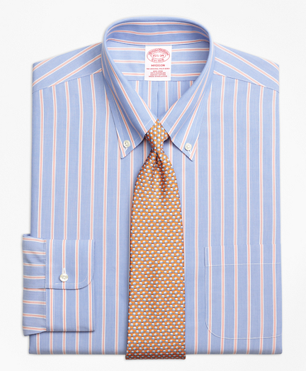 Non-Iron Madison Fit Hairline Twin Stripe Dress Shirt