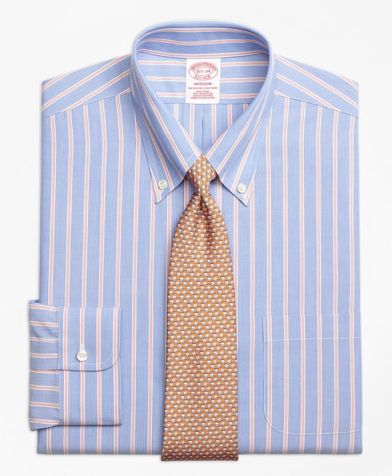 Madison Classic-Fit Dress Shirt, Non-Iron Hairline Twin Stripe