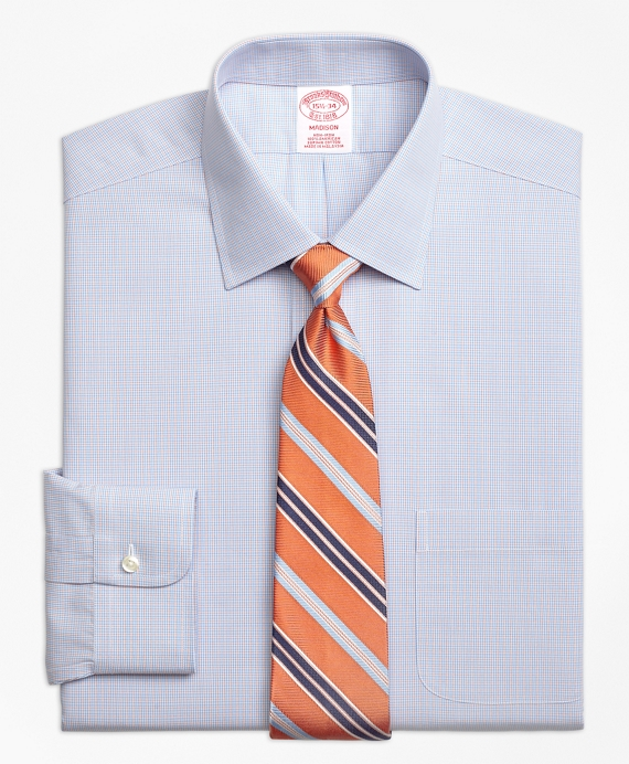 Non-Iron Madison Fit Twin Check Dress Shirt
