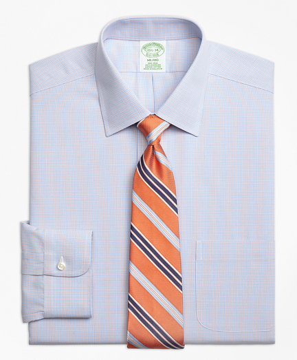 Non-Iron Milano Fit Twin Check Dress Shirt