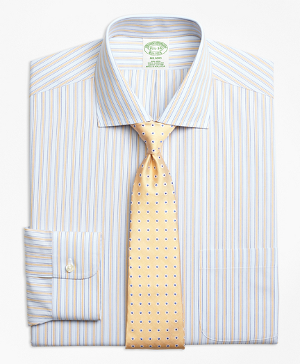 Non-Iron Milano Fit Framed Track Stripe Dress Shirts