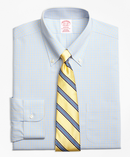 Non-Iron Madison Fit Triple Overcheck Dress Shirts