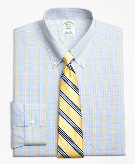 Non-Iron Milano Fit Triple Overcheck Dress Shirts