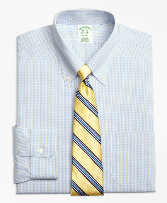Non-Iron Milano Fit Triple Overcheck Dress Shirts