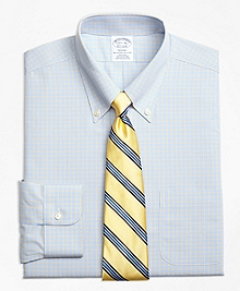 Non-Iron Regent Fit Triple Overcheck Dress Shirts