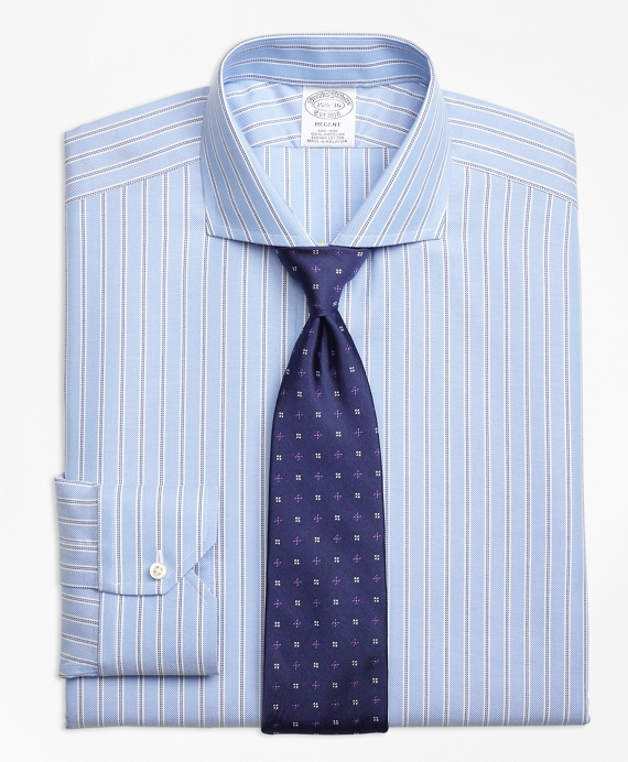 Non-Iron Regent Fit Royal Oxford Twin Stripe Dress Shirt