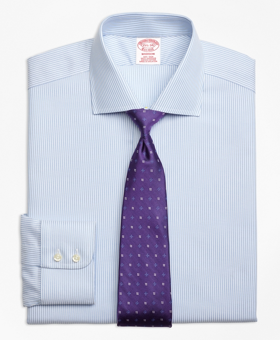 Madison Classic-Fit Dress Shirt, Non-Iron Royal Oxford Candy Stripe
