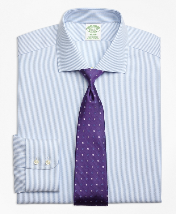 Milano Slim-Fit Dress Shirt, Non-Iron Royal Oxford Candy Stripe