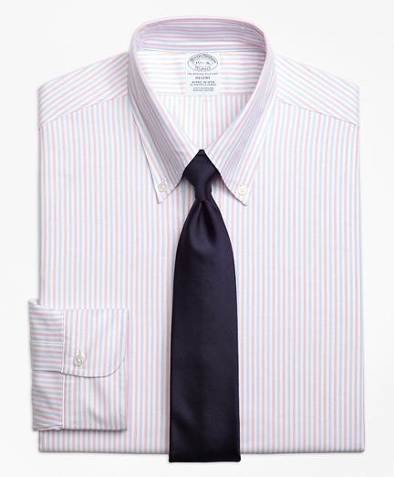 Regent Fit Original Polo® Button-Down Alternating Bengal Stripe Dress Shirt