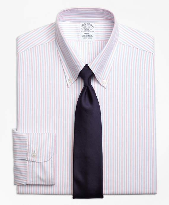 Original Polo® Button-Down Oxford Regent Fitted Dress Shirt, Alternating Bengal Stripe