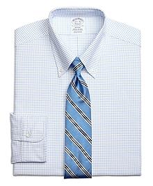 Regent Fit Original Polo® Button-Down Small Windowpane Dress Shirt