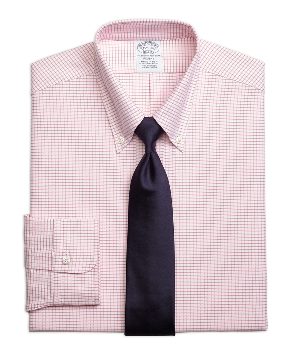 Original Polo® Button-Down Oxford Regent Fitted Dress Shirt, Small Windowpane