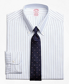 Madison Fit Original Polo® Button-Down Aternating Bengal Stripe Dress Shirt
