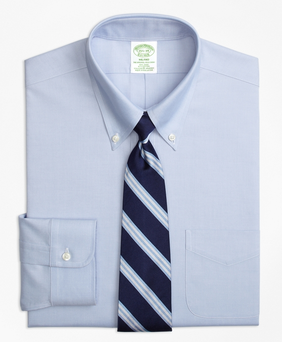 Non-Iron Milano Fit Button-Down Collar Stretch Dress Shirt