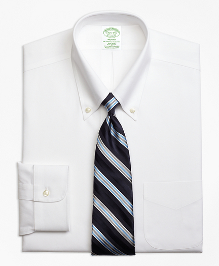 Stretch Milano Slim-Fit Dress Shirt, Non-Iron Button-Down Collar