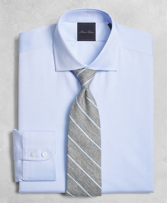 Golden Fleece® Milano Slim-Fit Dress Shirt, English Collar Light Blue
