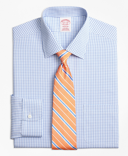 Non-Iron Madison Fit Tonal Sidewheeler Check Dress Shirt