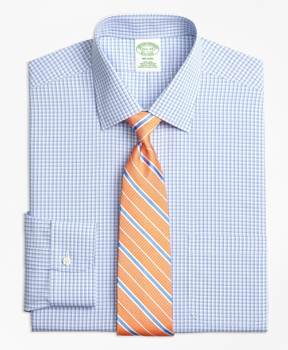Non-Iron Milano Fit Tonal Sidewheeler Check Dress Shirt