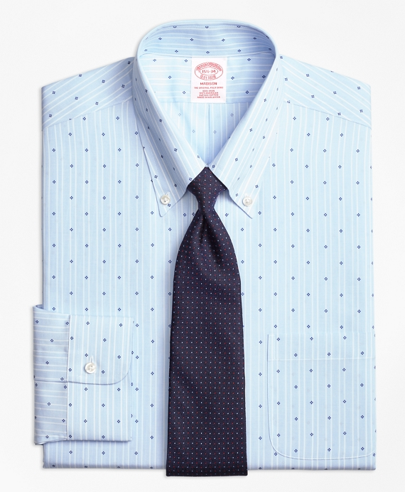 Madison Classic-Fit Dress Shirt, Non-Iron Stripe Flower