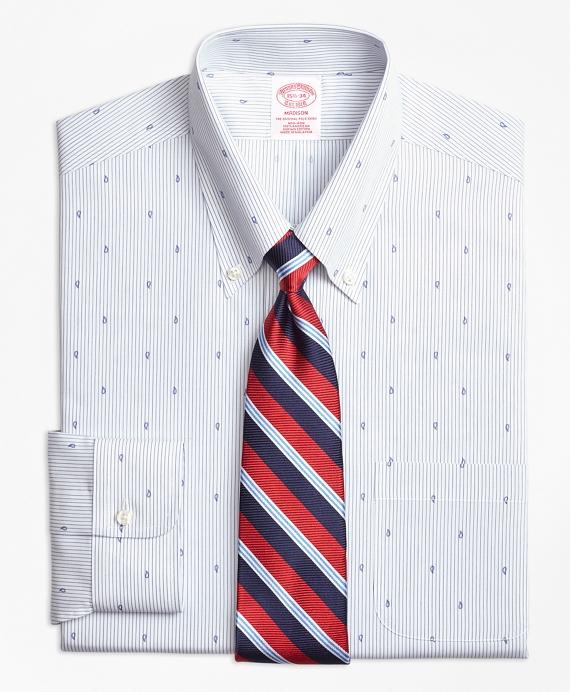 Madison Classic-Fit Dress Shirt, Non-Iron Stripe Pine