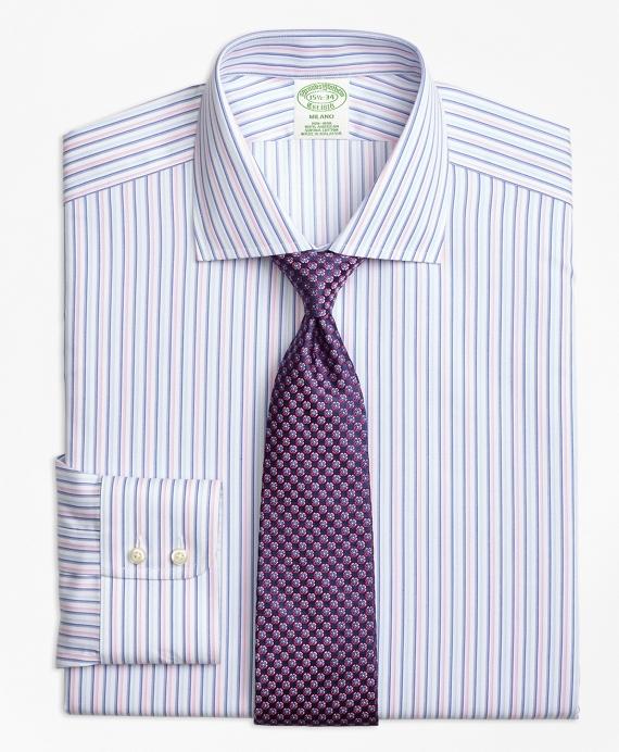 Milano Slim-Fit Dress Shirt, Non-Iron Alternating Twin Stripe