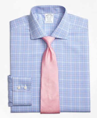 Non-Iron Regent  Fit Glen Plaid with Deco Dress Shirt