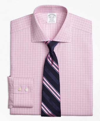 Non-Iron Regent Fit Windowpane Dress Shirt
