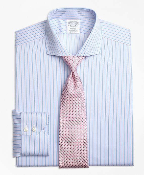 Non-Iron Regent Fit Split Stripe Dress Shirt