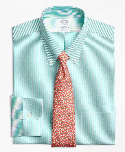 Non-Iron Regent Fit Dobby Candy Stripe Dress Shirt
