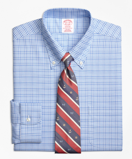 BrooksCool® Madison Classic-Fit Dress Shirt, Non-Iron Glen Plaid
