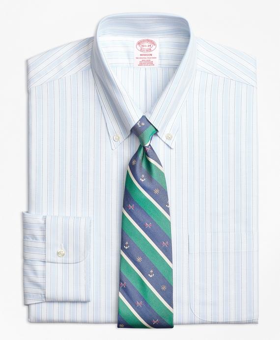 BrooksCool® Madison Classic-Fit Dress Shirt, Non-Iron Music Stripe