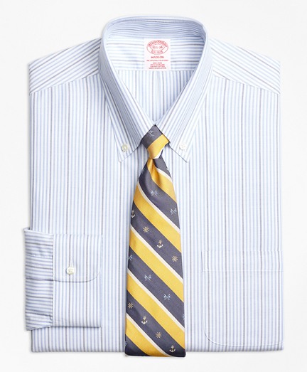 BrooksCool® Madison Classic-Fit Dress Shirt, Non-Iron Candy Stripe