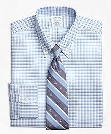 Non-Iron Regent Fit BrooksCool® Framed Shadow Check Dress Shirt