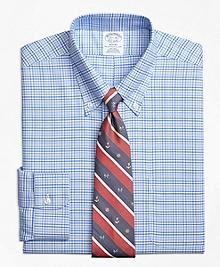 Non-Iron Regent Fit BrooksCool® Glen Plaid Dress Shirt