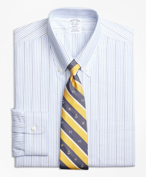 BrooksCool® Regent Fitted Dress Shirt, Non-Iron Candy Stripe
